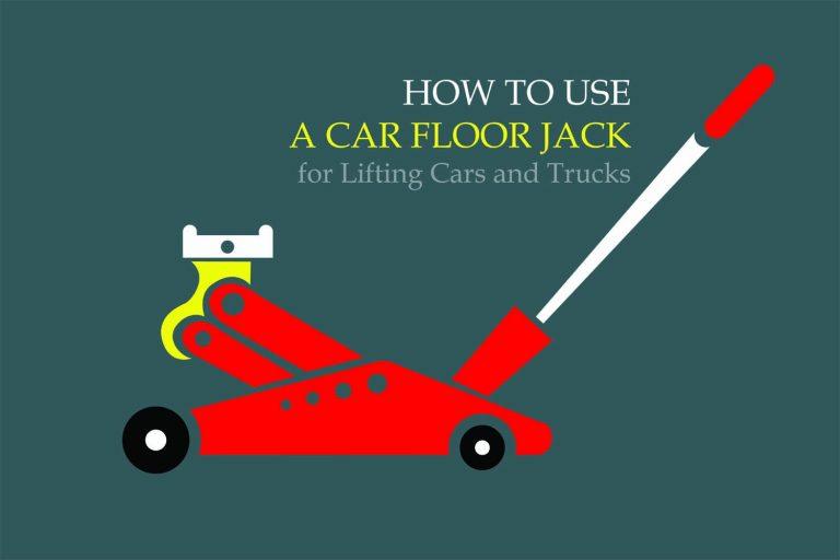 How to use a car floor jack